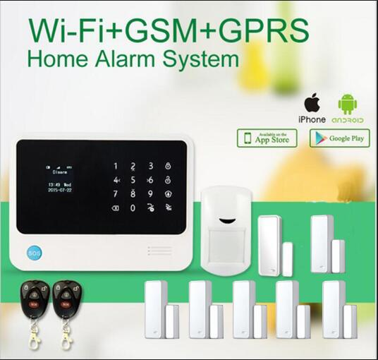 New version G90B Pus GSM Wifi smart home security alarm system APP remote control gsm wifi intruder alarm 433mhz burglar alarm