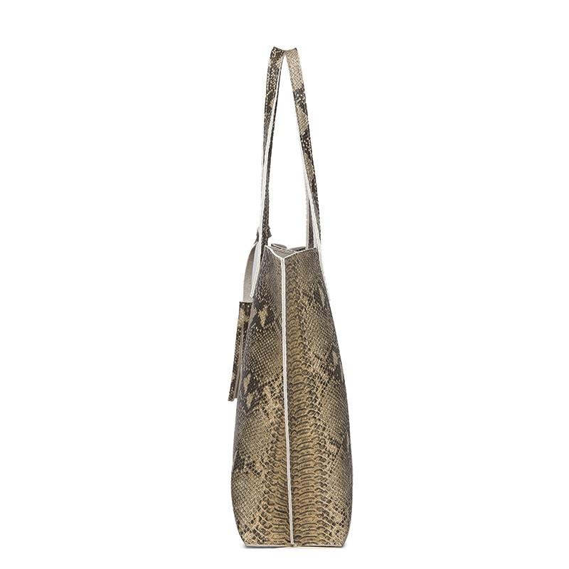 Ankareeda Luxury Brand Serpentine Women's Soft Leather Handbag High Quality Women Shoulder Bag Fashion Tassel Women's Handbags 3
