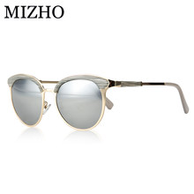 91a25e742 MIZHO Vidrio de Metal Estrela Óculos Polarizados Óculos de Sol Mulheres  Polaroid de Óculos De Sol Do olho de Gato Do Vintage UVA.