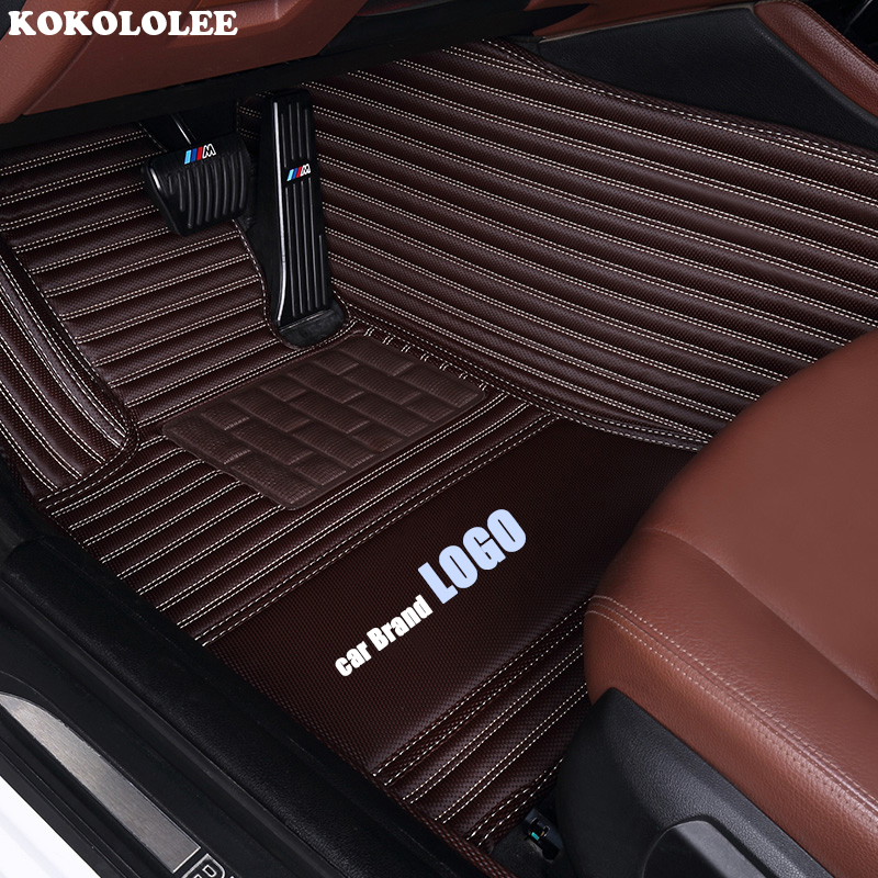 kokololee car floor mats for Volkswagen LOGO vw up CC passat b5 b6 b7 b8 polo