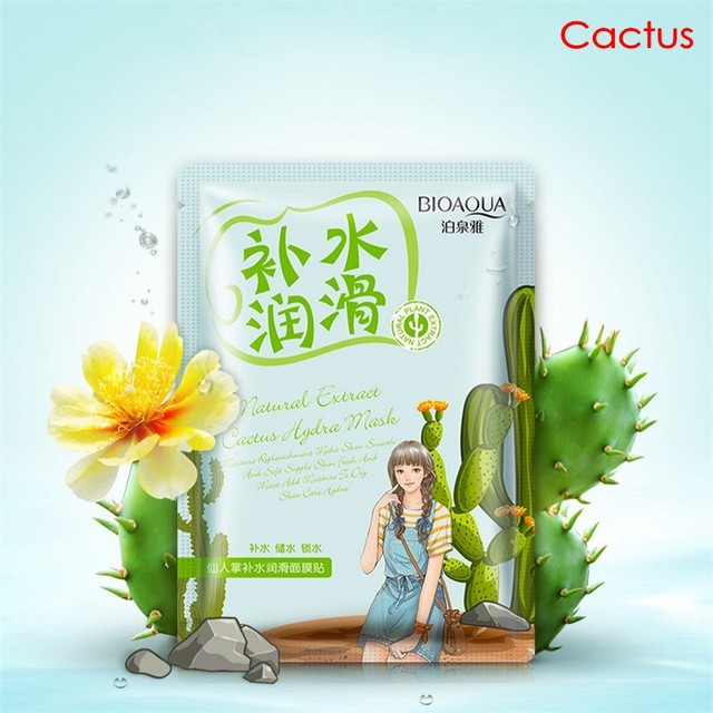 BIOAQUA Plant Extracts Aloe Face Masks Collagen Essence Facial Mask Moisturizing Firming Oil-control 2