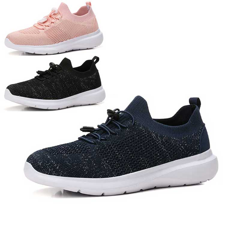 Women Flying Mesh Breathable Sneakers Ladies 2019 Summer Woman Sport Runing Shoes Femme Walking Shoes Footwear Black Blue White