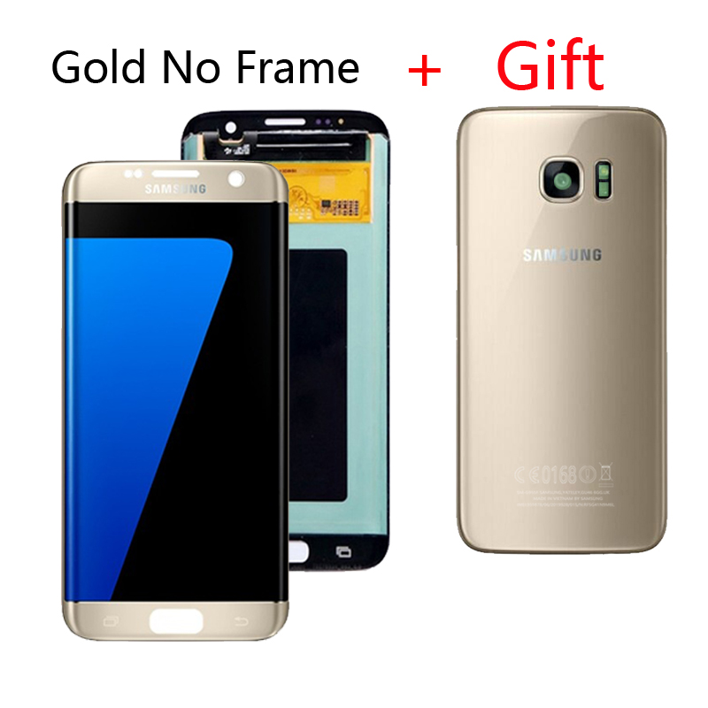 HTB1cC.VcRiE3KVjSZFMq6zQhVXaD Original AMOLED 5.5 '' LCD For Samsung S7 Edge LCD G935F G9350 S7 Edge LCD Display Touch Screen With Gift S7 Back Cover