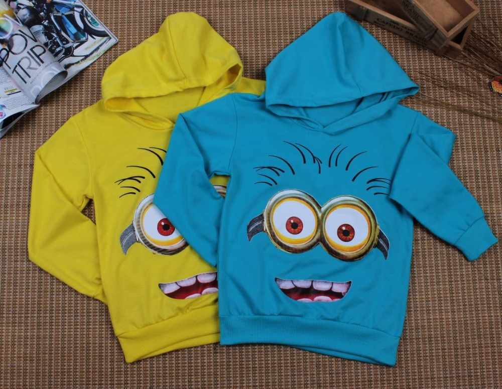 HTB1cC.hewnH8KJjSspcq6z3QFXad - Boy or Girl's High Quality Cotton Hoodie T-Shirts Cartoon Minion Print Design