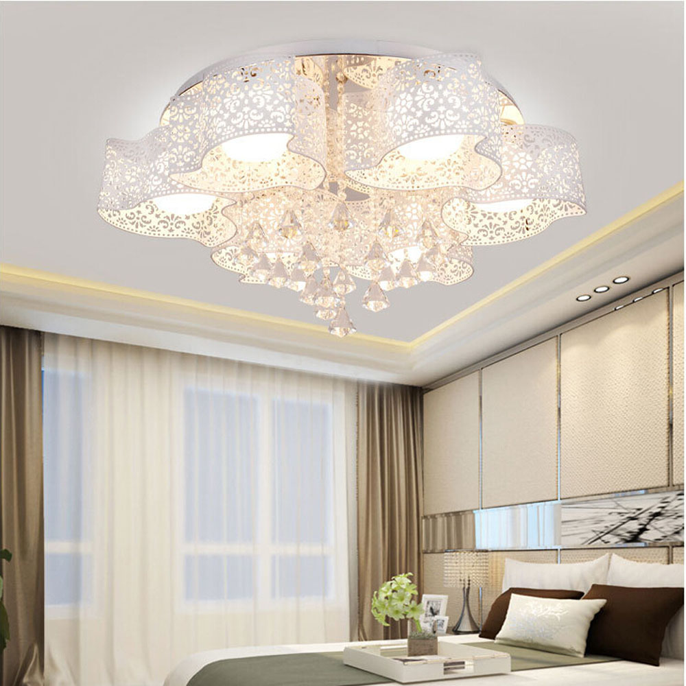 Living Room Led Lighting Decorating Ideas For Rooms With Grey Walls Modern Children Crystal Ceiling Lamp Flush ...