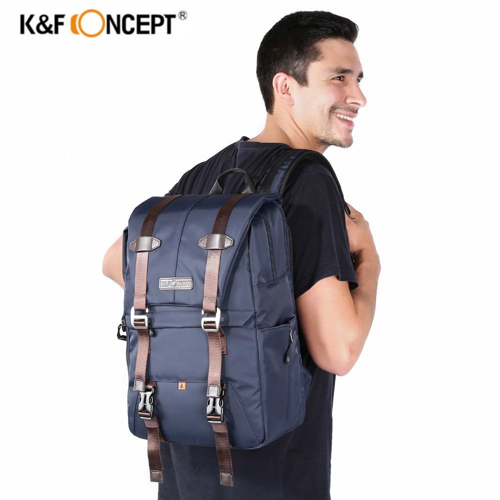 K&F CONCEPT Shockproof Camera Backpack Waterproof Multifunctional Travel/Photo/Video/Tripod Bag With Dual-layer Design For DLSR 2017 jealiot multifunctional professional camera bag laptop backpack video photo bags waterproof shockproof case for dslr canon