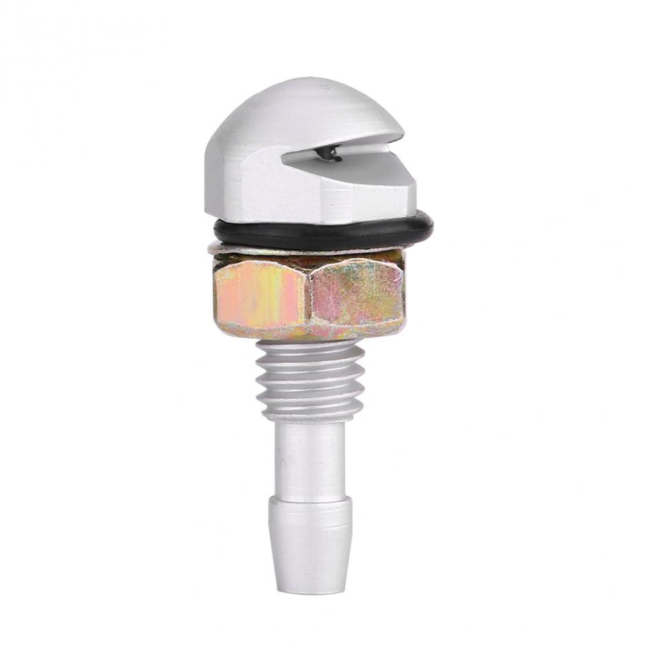 2pcs Universal Aluminum Alloy Car Auto Silver Color Front Windshield Sprayer Washer Nozzle
