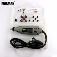 MAXMAN 125W Electric Mini Die Grinder Continuously Variable Speed Rotary Tool 3mm Collet Multi Power Tools Set with Plastic Box
