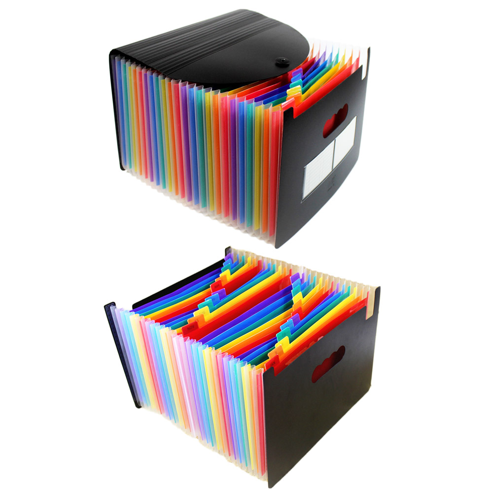 12/13/24 Layer Document Bag Rainbow Accordion A4 Classification Test Papers Tool Business Expanding File Folders Filing Products