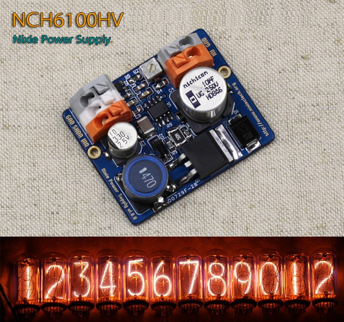 1PCS NCH6100HV High Voltage DC Power Supply Module For Nixie Tube Glow Tube Magic Eye m12 04 nch std