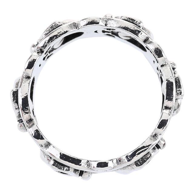 STAINLESS STEEL CIRCLE SKULL RINGS