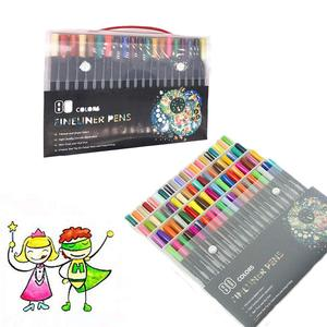 Image 2 - Acquerello Marcatori Fineliner Penna di Colore Set 80 Colori 0.4 millimetri Disegno Schizzo Penne Poroso Fine Point Colorazione Marker per Larte supporto