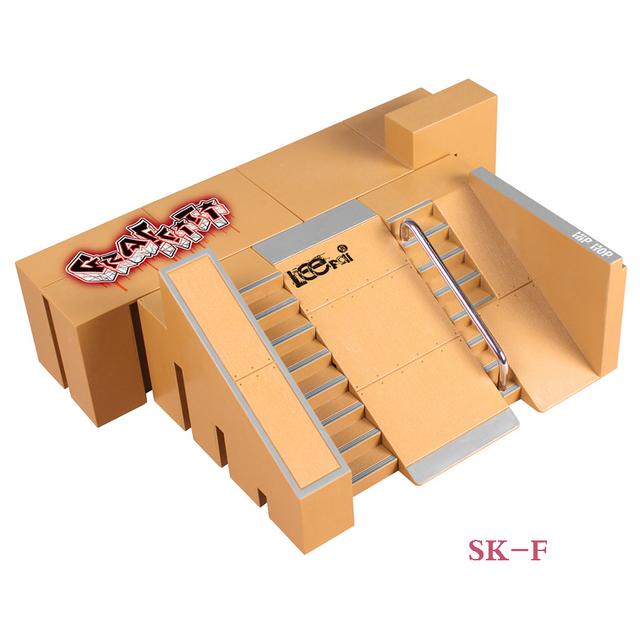 SK-F 2 * Pasos y Pendiente Avión Dedo Skate Park Rampa y Partes Diapasón de Tech Deck y Tablero Del Dedo Propiedad Stage