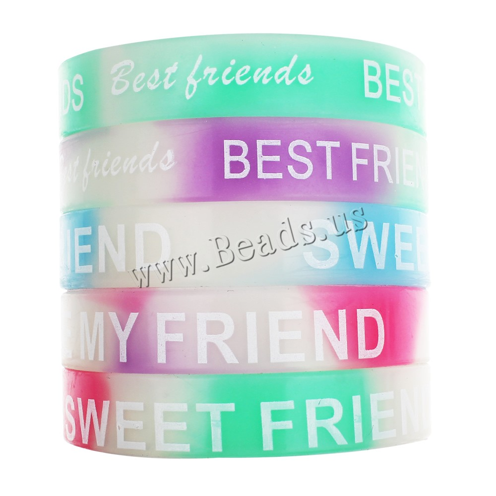 10 Pcs Word Customzied Best Friend Bracelets Bangles Unisex Turret Games  Rubber Flexible Friendship Bracelets Wristband