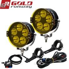 2PCS 50W U3 motorcycle led spotlights auxiliary lamp super bright Motorcycle headlight motobike accessories moto fog work light