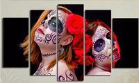 Imprime Fotos Para Sala Home Decor 5 Peça Da Arte Da Parede Day Of The Dead Meninas Poster Do Filme Tela de pintura Caligrafia pintura