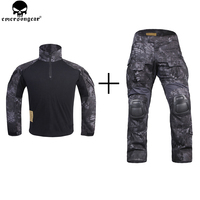 EMERSON Combat Uniform Shirt Tactical Pants with Knee Pads Hunting Clothes emersongear G3 Suit Combat Pants TYP/Typhoon