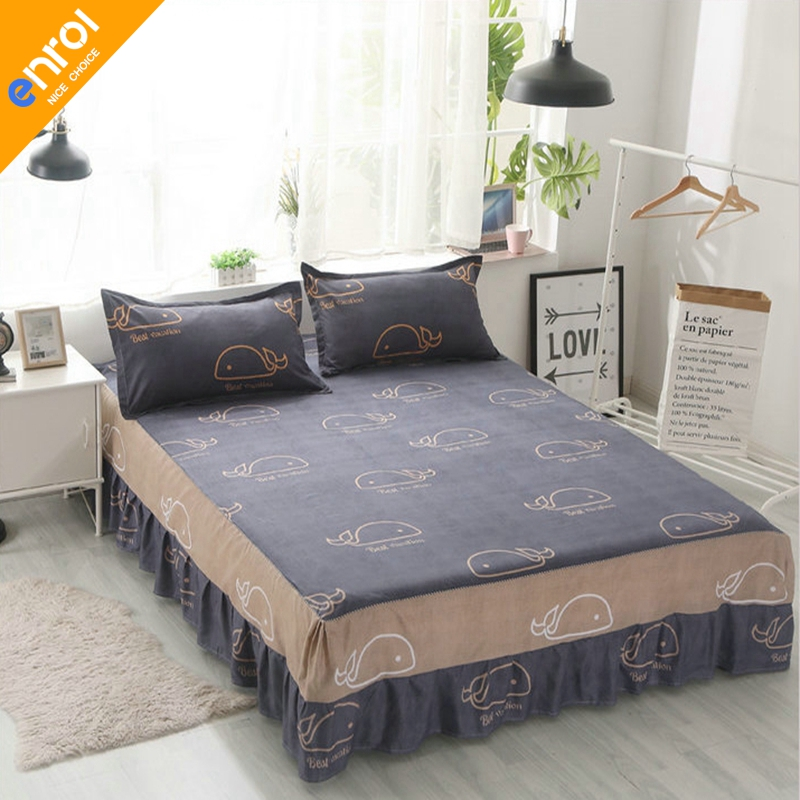 Polyester Bed Skirt Elastic Mattress Cover Skirts