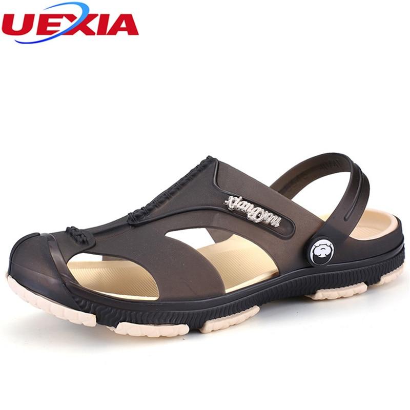 UEXIA Mens Flip Flops Casual Men Shoes Summer Beach Fashion Beach Flip Flop Slippers Walking Breathable Sapatos Hembre Sapatenis