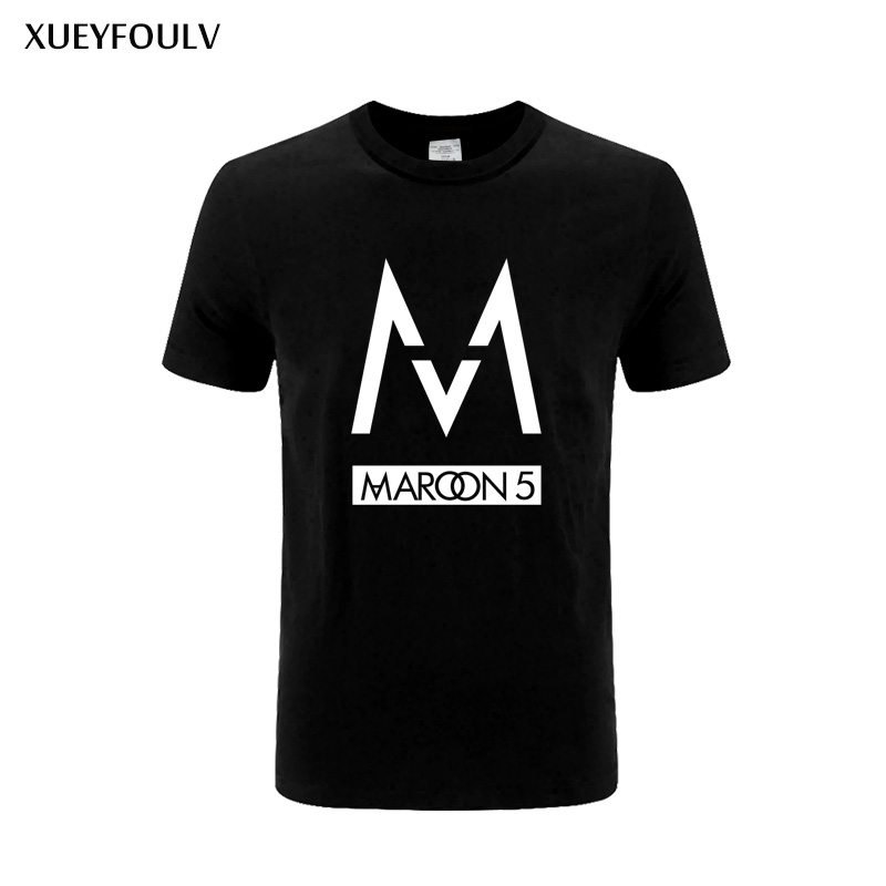 2018 mens t shirts fashion band Maroons 5 men t shirt rock band short sleeve tshirt hip hop cotton tee shirts Free Shipping