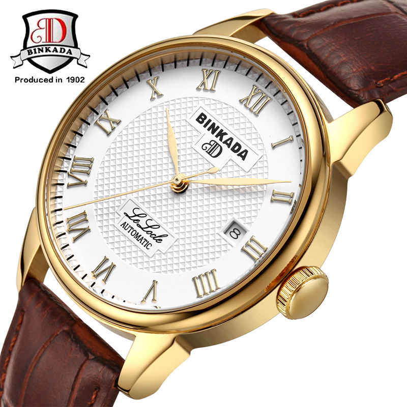 BINKADA Simple Designer Luxury Watch Rose Gold Case Mens Watches Top Brand Luxury Automatic Mechanical Watch Clock Men Montre инфракрасный обогреватель ballu bih l 3 0
