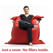 2018 New Bean Bag in Living Room luxury Magic Seat zac Shell Comfort Bean Bag Bed Cover Without Filler Outdoor Furniture Sofa