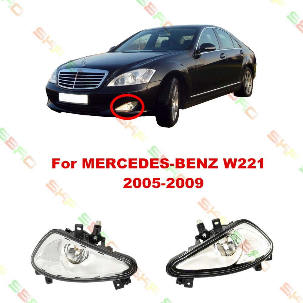 For MERCEDES-BENZ W221  2005/06/07/08/09   car styling fog lights   1 SET LAMPS 1998 2005 year for mercedes benz w163 ml320 ml350 ml430 ml450 head lamp silver lf