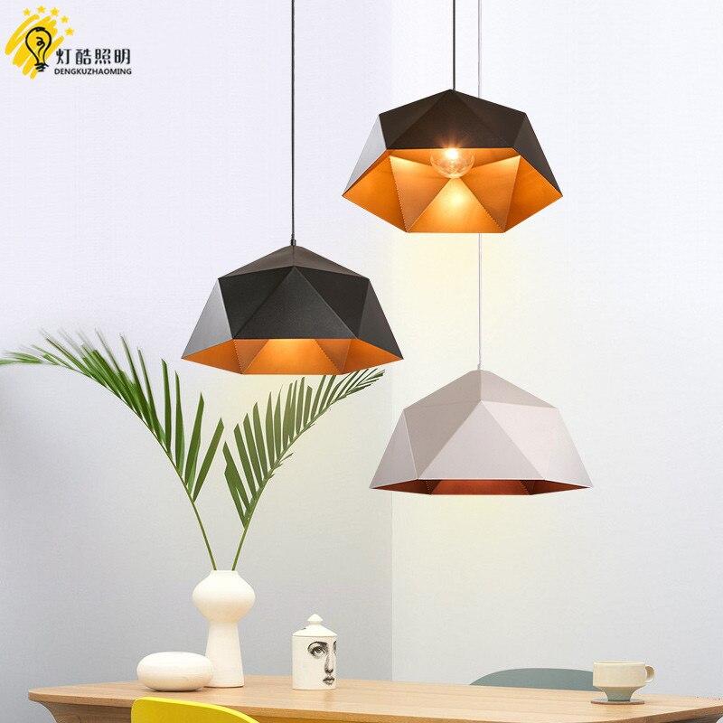 head geometry pot droplight cafe restaurant Industrial wind restoring ancient ways, wrought iron diamond pendant lamp - 2