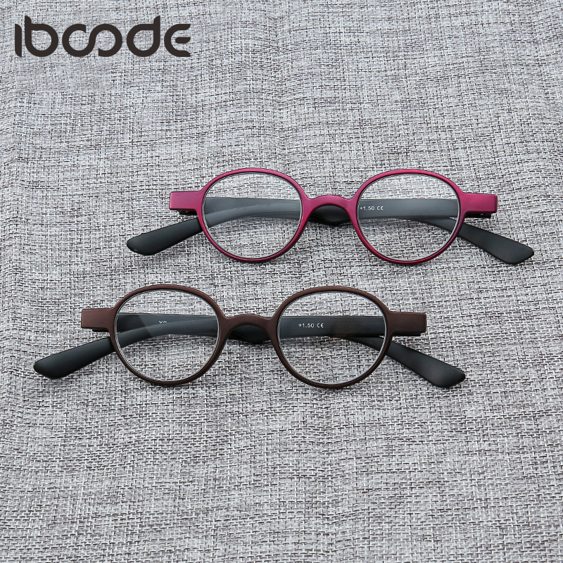 iboode Unisex Vintage Round Reading Glasses Retro Personality College Style Eyeglass Clear Lens Brand Fashion Eye Glasses Frames