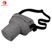 High Quality Canvas And PU Leather DSLR Camera Bag Case For Canon Nikon Sony Pentax KR