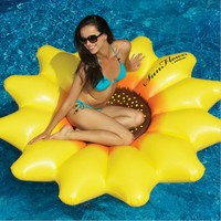 HOT Giant Inflatable 72 Sunflower Island Swimming Pool Raft Float 180CM Heronsbill Inflatable Seat On Pool