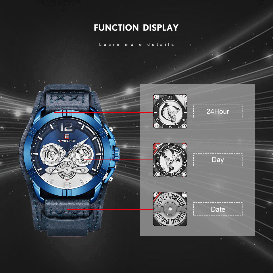 jpg Naviforce Men Watch Leather Army Military Retro Steampunk Sports Male Quartz Watch Wristwatch With Date Hodinky Relojes Hombre (2)