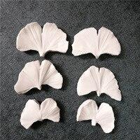 3D листок гинкго билоба вены силиконовые формы дизайнер формы «сделай сам» Para Cemento глины