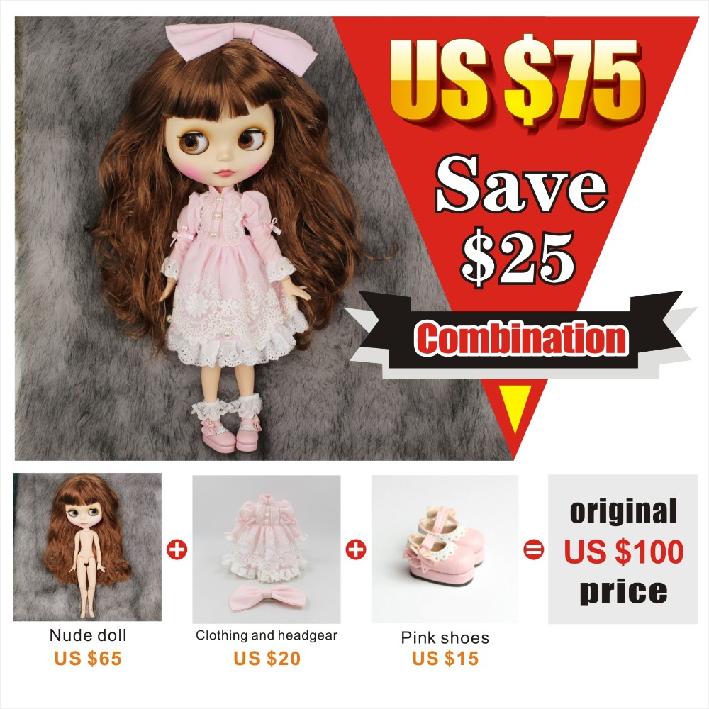 free shipping factory blyth doll bjd joint body 1/6 toy gift combination with dress shoes special offer on sale no free hand ab