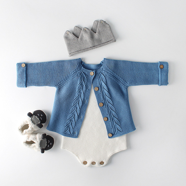 78a1ed453 2018 Newborn Baby Girl Cardigan Baby Girls Clothes Autumn Baby ...