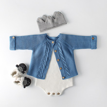 2018 Newborn Baby Girl Cardigan Baby Girls Clothes Autumn Baby knitted Outerwear amp Coats Infant Boys Sweater Cotton Baby Jackets cheap Outerwear Coats O-Neck Solid Unisex Regular Fashion Fits true to size take your normal size 83006 Full Worsted 100 Cotton