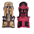 Red and Coffee Color Plus Size Portable Baby Car Seat for 9-40KG Kids, Children Thickening Car Safety Seat Chair Covers