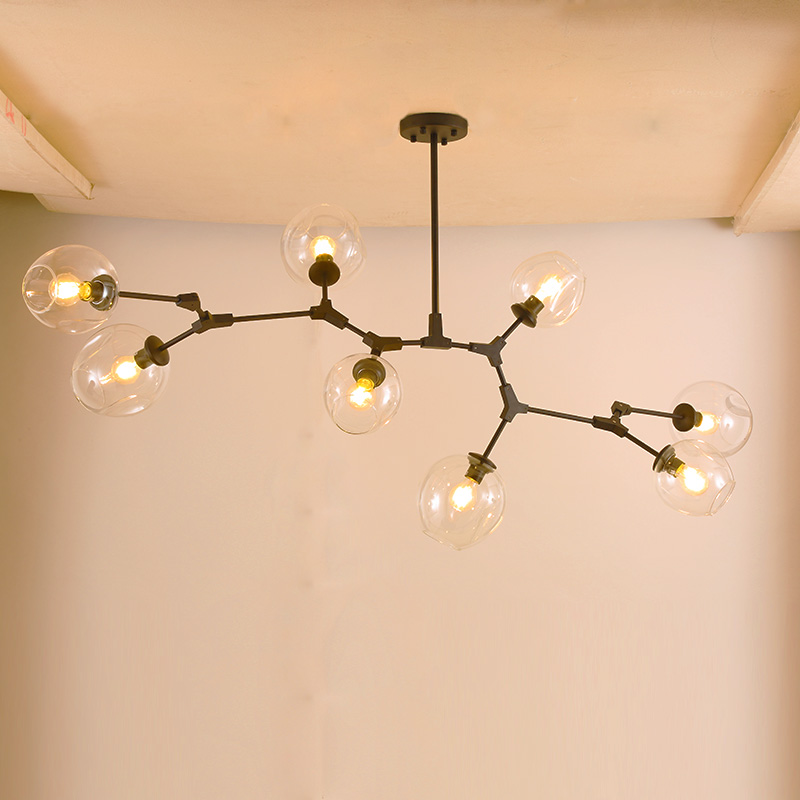 Branching Bubble Ceiling Lights Retro Loft Vintage Clear/smoke/amber Glass Hanging Suspension Luminaire Ceiling Lamp Fixtures Pendant Lights