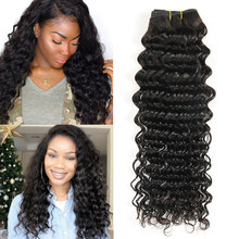 Yavida Hair Brazilian Curly Hair Bundles Brazilian Deep Curly Hair Natural Color Human Hair Weave Bundles 3 Piece(China)