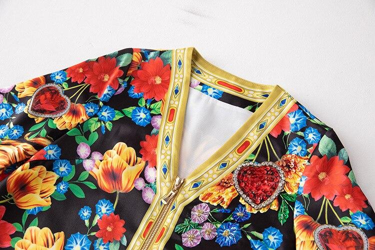 Paillettes Matin Moitié Taille Imprimé Gloire Vêtements Mode Du Mince Glissière Fleur À V Fermetures Plus Robe Lion cou Lâche Robes La Manches Piste 7qqUz5