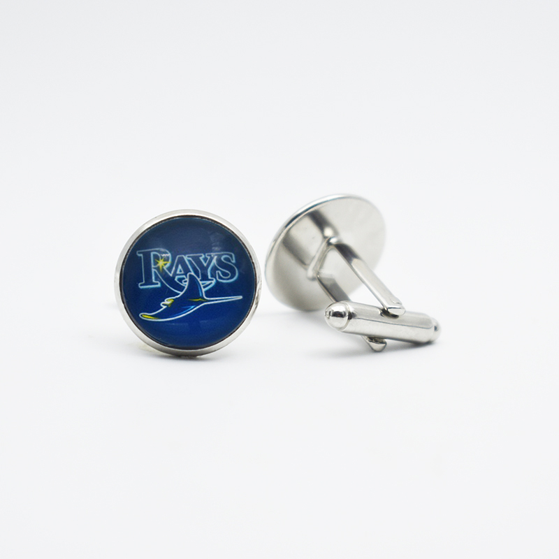 Style Cufflinks Tampa Bay Rays Baseball Sport Team Metal Jewelry Clothing Accessor Cufflinks