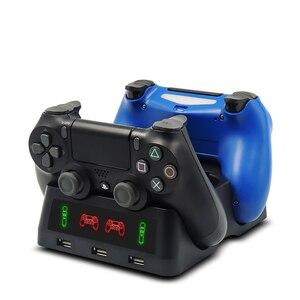Image 5 - עבור פלייסטיישן 4 PS4 Slim פרו PS VR תנועת Move PS בקרי 4 ב 1 מטען Dualshock USB טעינת Dock תחנת אחסון Stand