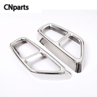 CNparts 1Pair For BMW 5 Series G30 2017 2018 5 Series Car Exhaust pipe Tail Throat Modified Stainless Steel Stickers Accessories