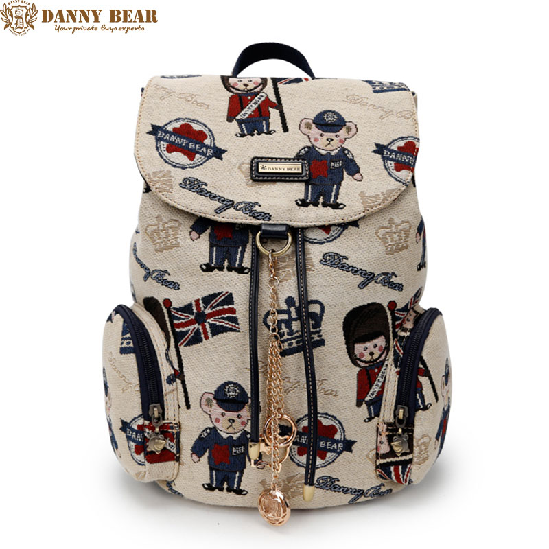 DANNY BEAR High Quality Backpacks For Teenager Girls Preppy Style Students School Back Bags Vintage Travel