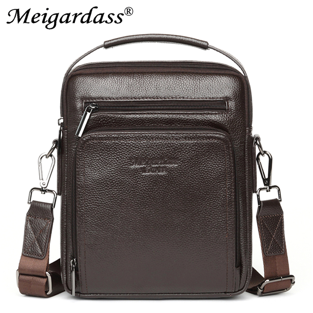 MEIGARDASS Genuine Leather Crossbody Bags for men Messenger Bag Travel Shoulder Bag Male Business iPad Handbags Tote Purse Bags цена 2017