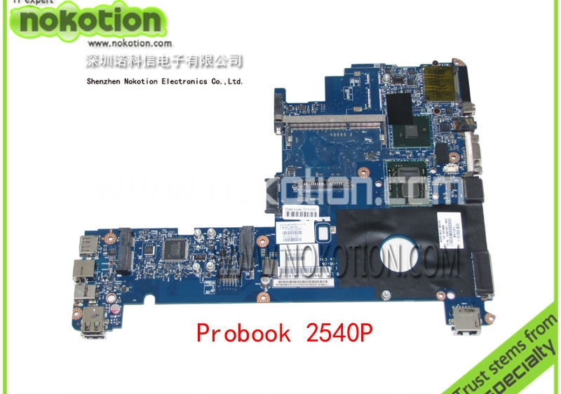 NOKOTION laptop motherboard for hp ELITEBOOK 2540P 598762-001 LA-5251P i7-640LM QM57 GMA HD DDR3 Mainboard