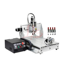desktop cnc router 4 axis 6040 800W woodworking cnc drilling machine for wood Marble metal pcb Aluminum