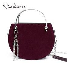 高級ハンドバッグの女性のデザイナートートスエード革サドルバッグチェーンショルダーバッグ財布ボルサ女性タッセルメッセンジャーハンドバッグ嚢