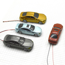 FREE SHIPPING 20pcs light car 1:75 scale for architecture