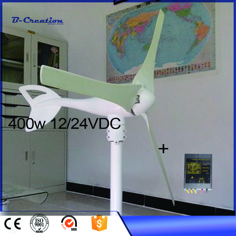 Generador Eolico 3 Blades 400w Dc12/24v Wind For Turbine Generator With Waterproof Charge Controller And Magnetic Power Kits